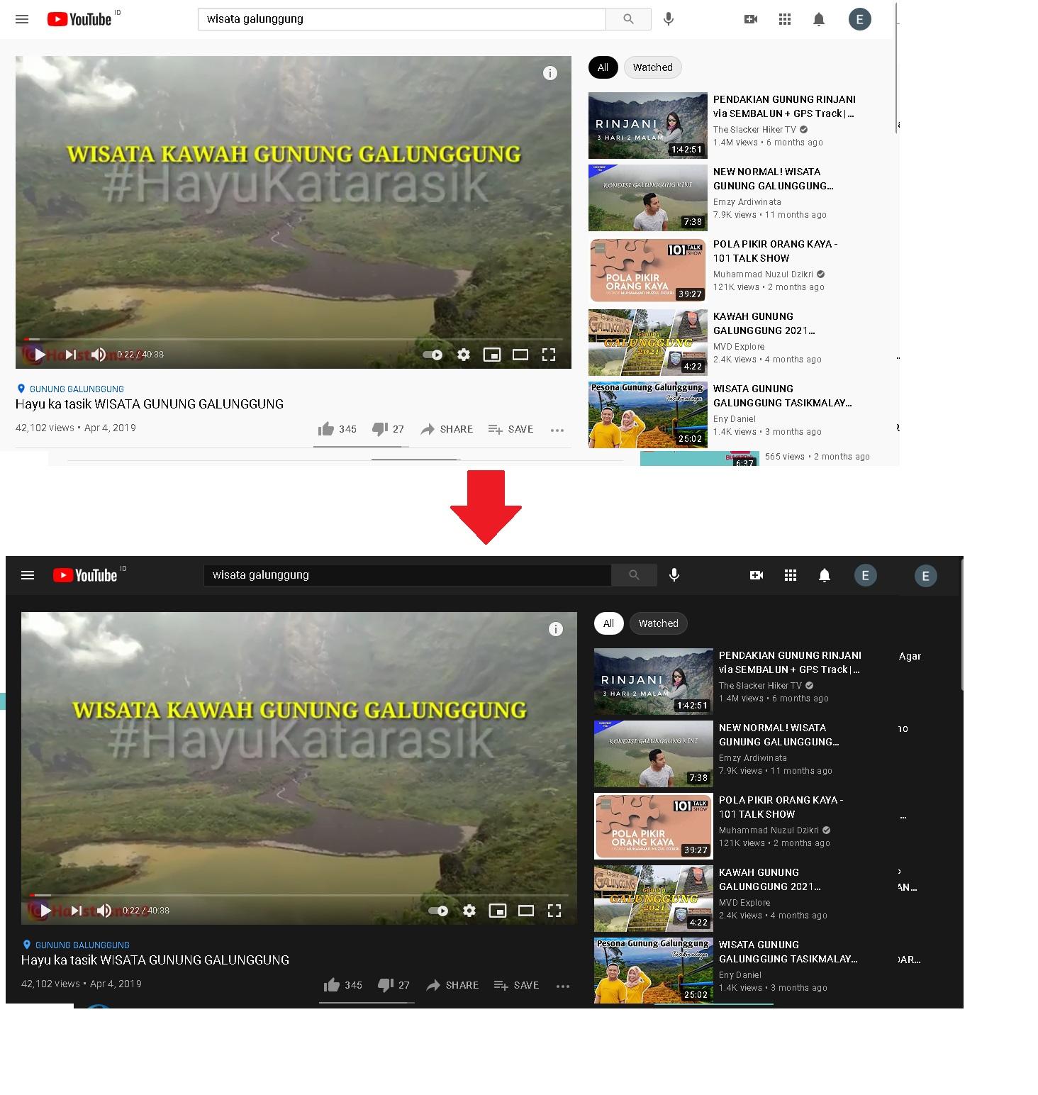 Merubah Tampilan Youtube Ke Dark Mode Youtube di Browser