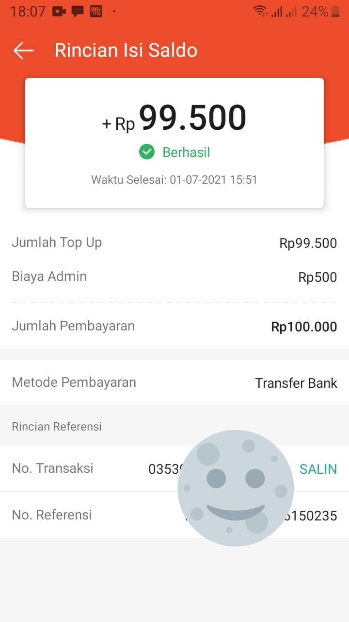 Isi Saldo Shopeepay Bayar Biaya Admin 500 Rupiah